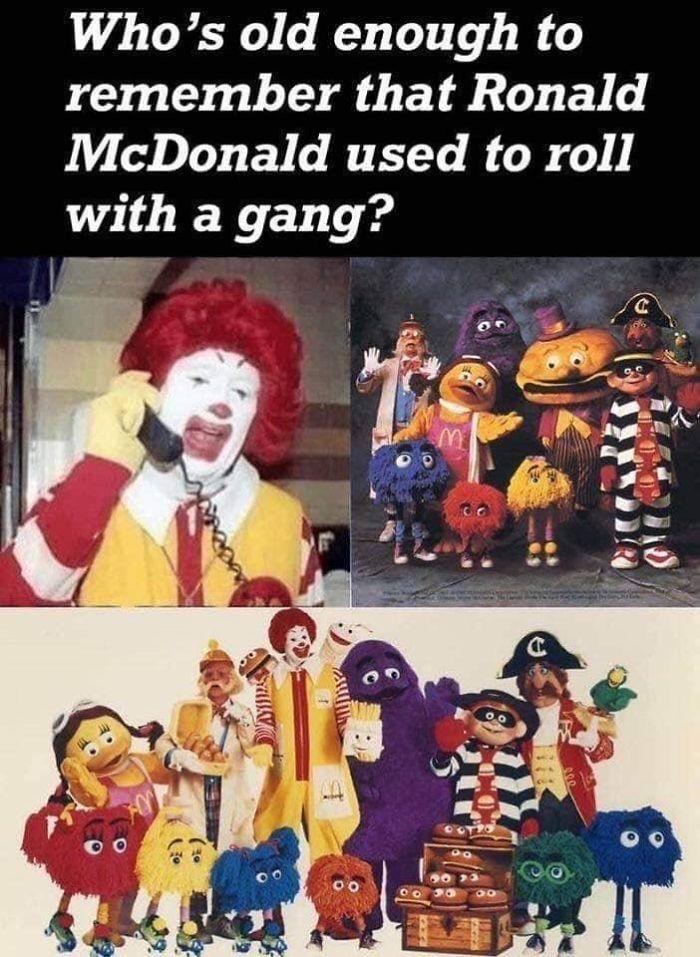 "When Ronald Mcdonald Had His Own ""Gang"" Of Fast Food Fanatics"