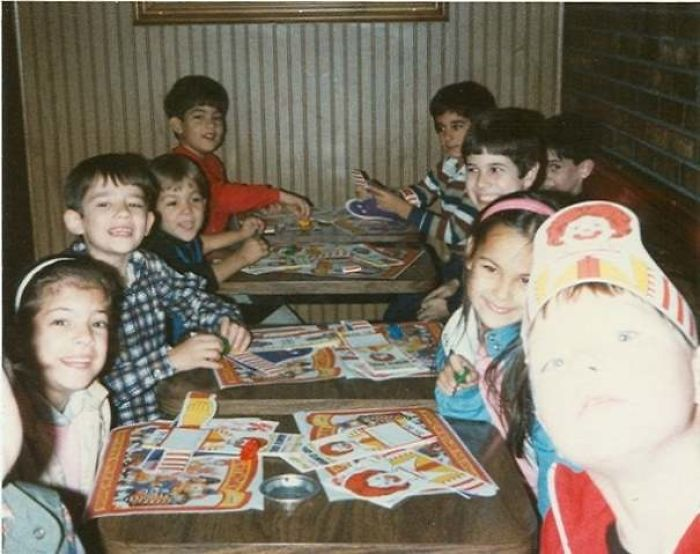 McDonald's Birthday Parties... Complete With Ash Trays On The Tables For A Good Smoke After A Happy Meal