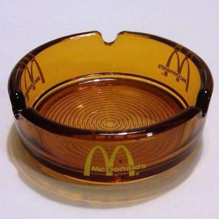 These Old Amber Glass Ashtrays That Everyone Had (Including McDonald's!)