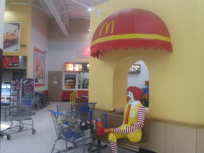 Does Anybody Remember When Walmart Had Mcdonald's And The Ronald Mcdonald Bench?
