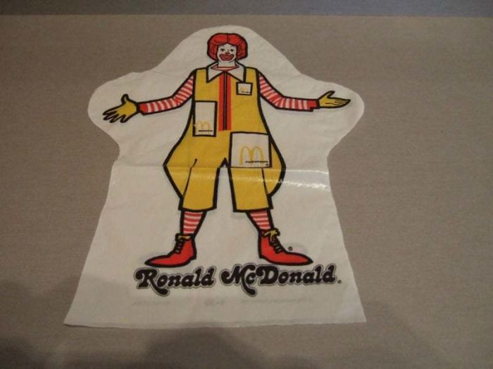 Ronald Mcdonald Hand Puppet From '76