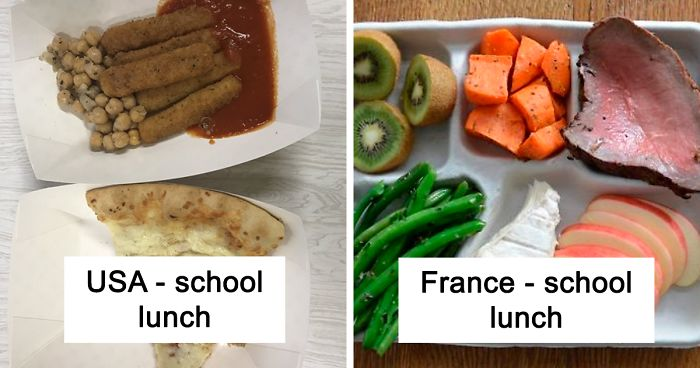 18 People Compare Some School Lunches, Show That US Education Is Underfunded While Their Police Is Overfunded