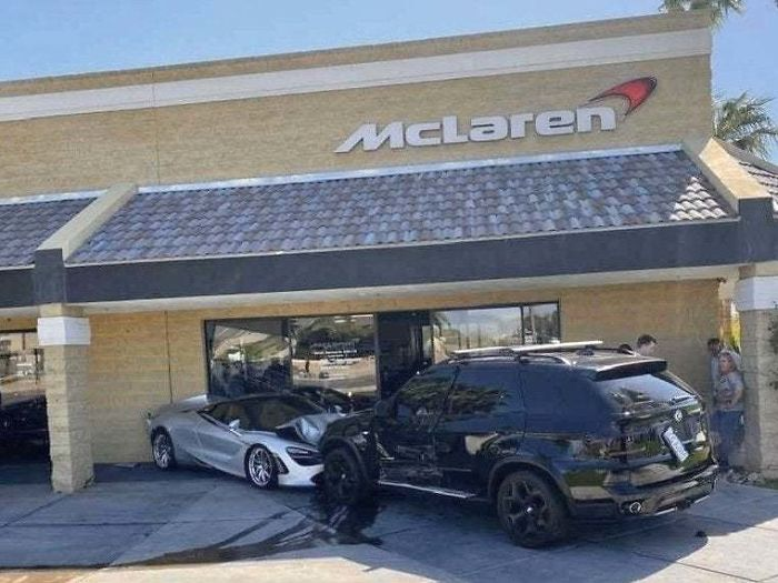 Suv Crashes Into Mclaren Dealer