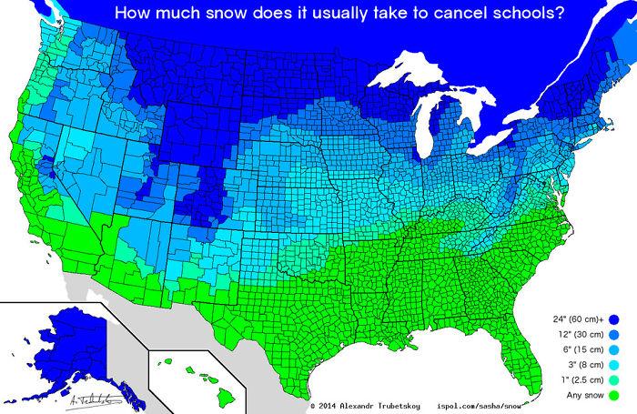 ¿Cuánta nieve hace falta para que se cancelen las clases en colegios?