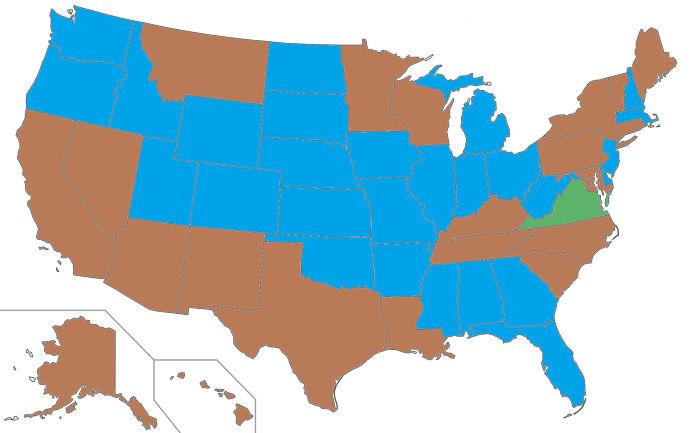Gobernadores de EEUU según su color de ojos