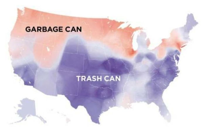 Garbage Can vs. Trash Can In The United States