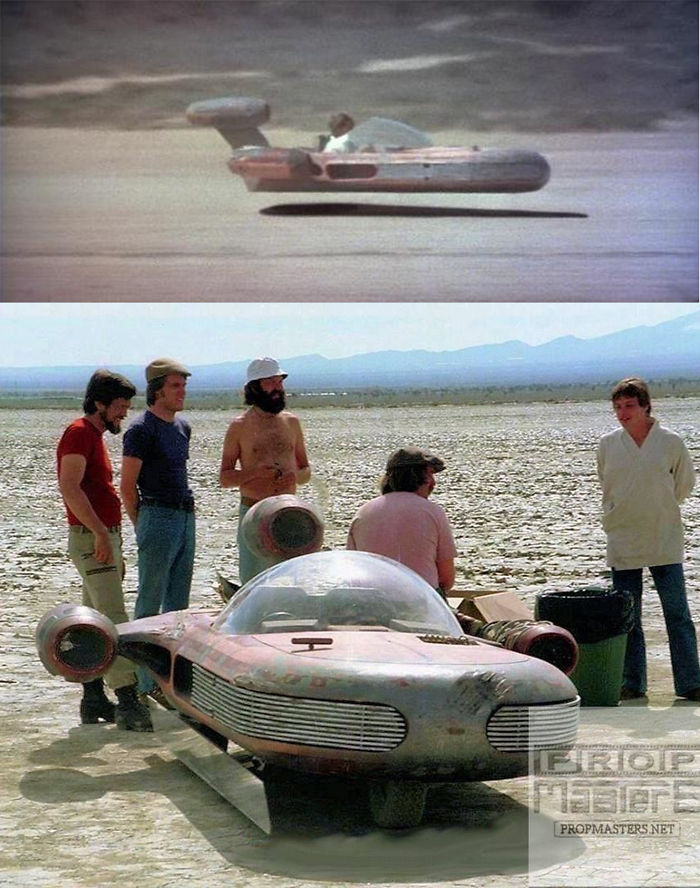 In Star Wars: A New Hope (1977), All The Wide Shots Of Luke Flying Across Tatooine In His Speeder Were Achieved By Placing A Mirror Underneath A Version Of The Prop With A Motor And Wheels