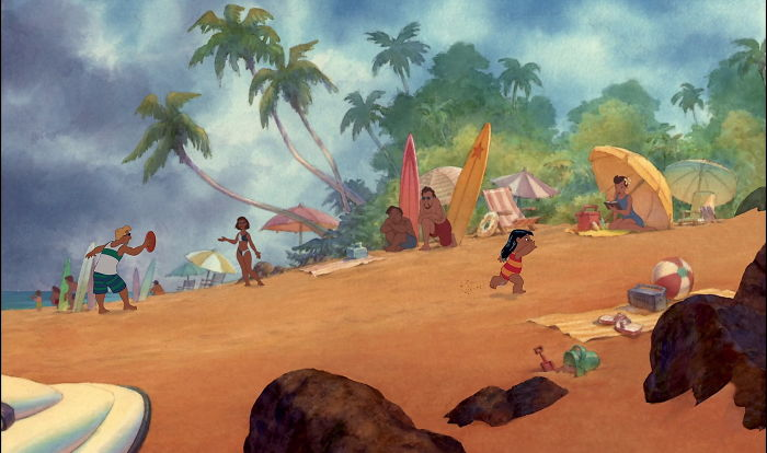 "Disney's ""Lilo & Stitch"" (2002) Used Watercolor Backgrounds, Exclusively. The Studio Had Some Financial Failures And Was Doing Ambitious Things Elsewhere, So They Left The Filmmakers To Their Own Devices, Off At The Florida Studio. The Only Other Watercolor Films Are Dumbo And Snow White"