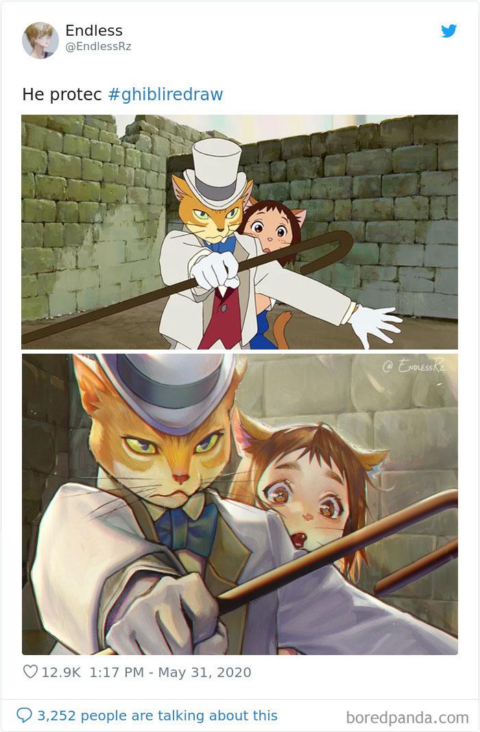 Redrawing-Ghibli-Art