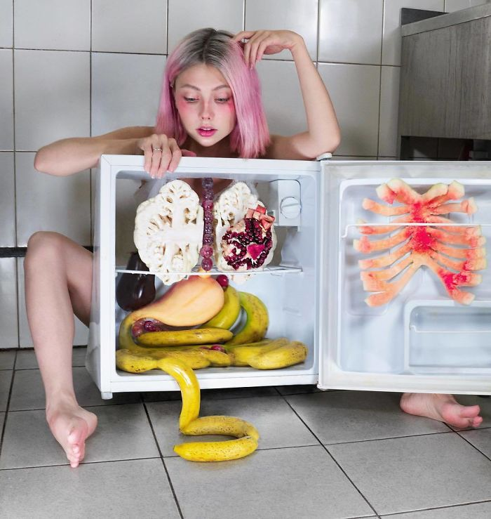 Russian Artist Gained 4.5M Followers By Taking Bizarre And Thought-Provoking Photos (35 Pics)