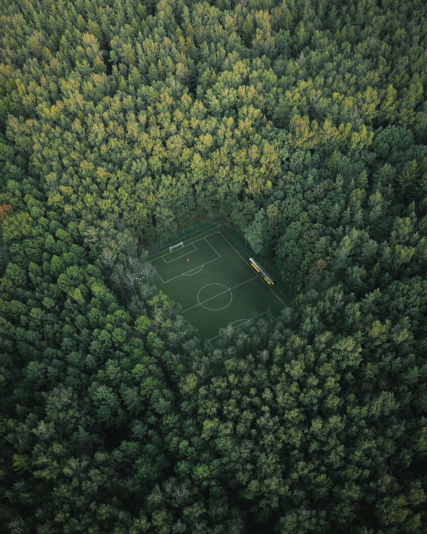 Football In The Green Forest