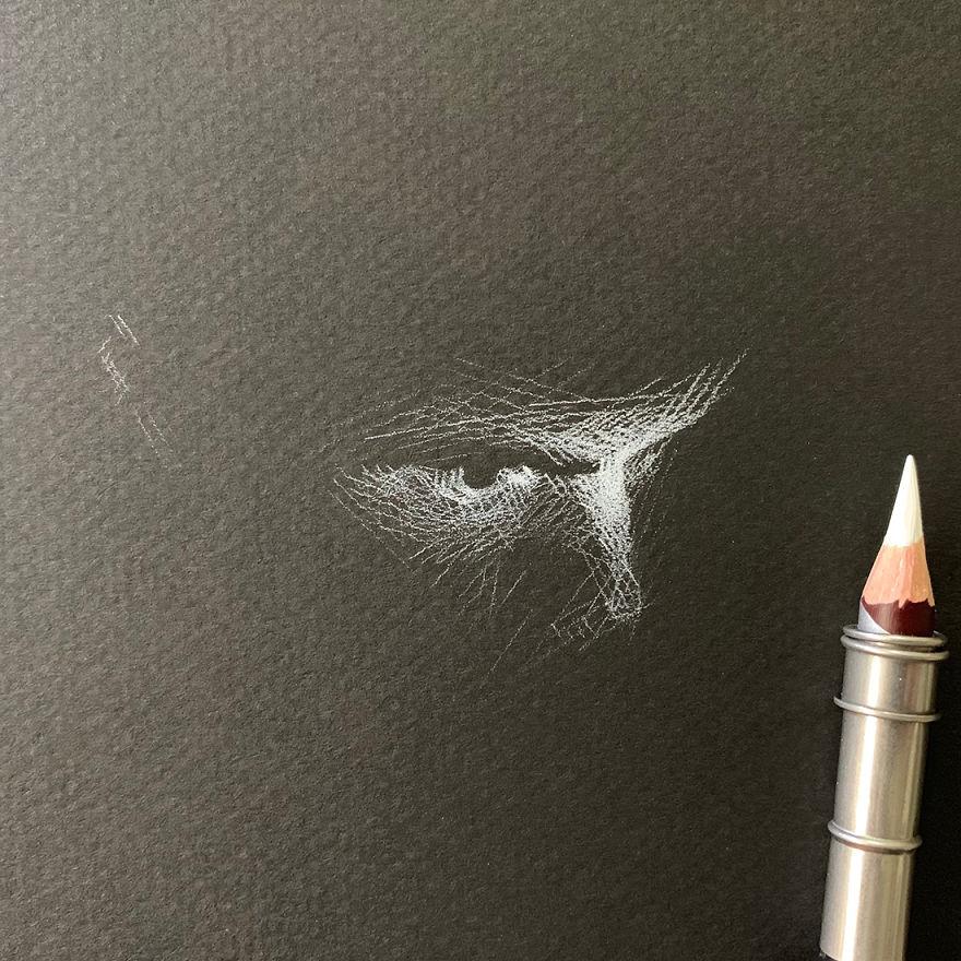When White Pencil Meets Black Paper…