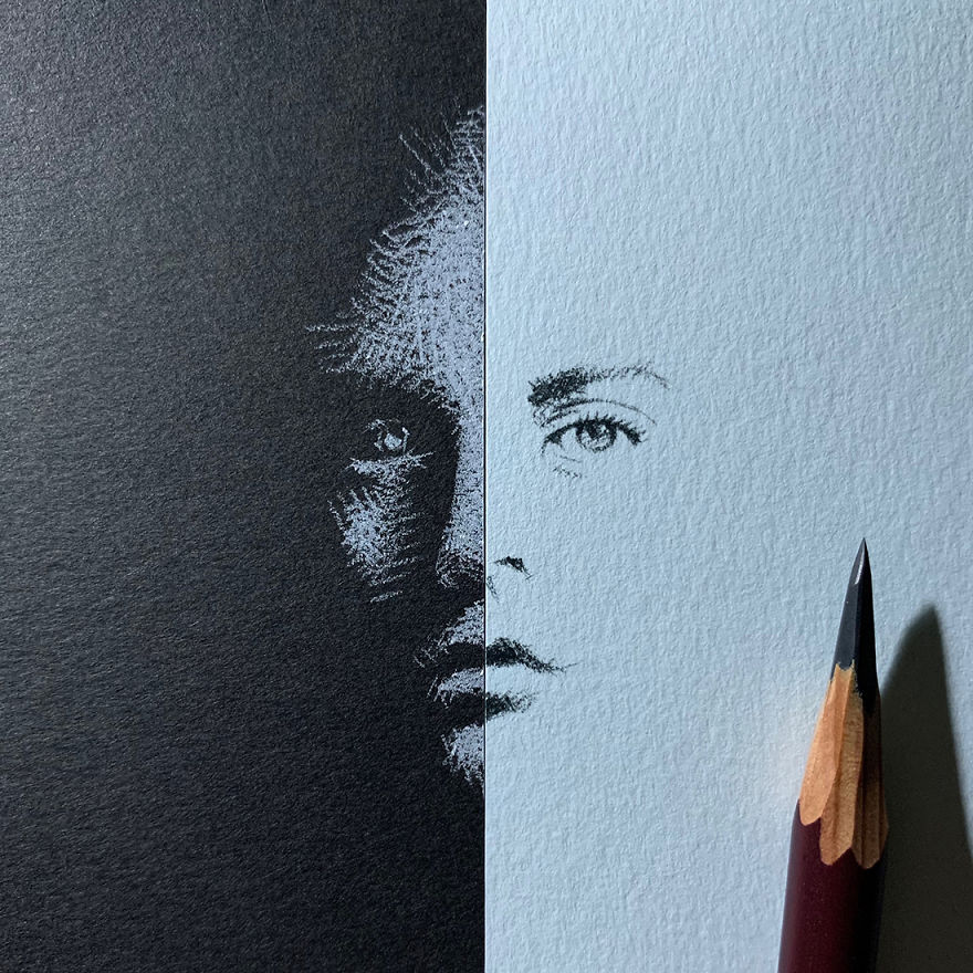 When White Pencil Meets Black Paper…