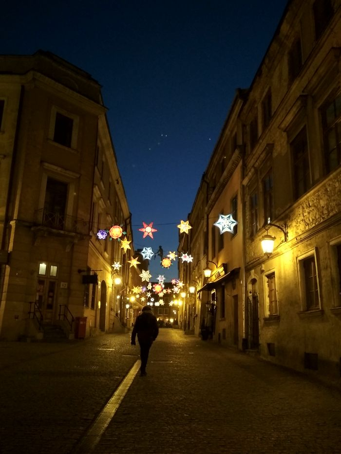 Starry Night In Lublin, Poland