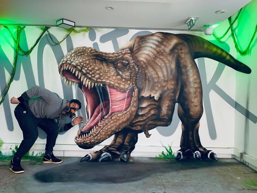 The Graffiti Of This French Street Artist Seems To Come Alive And Come Off The Walls