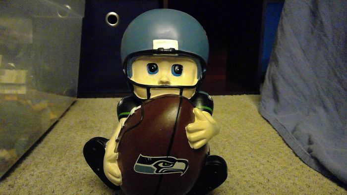This Seahawks Piggy Bank I Found In My Garage