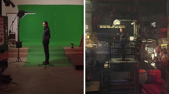 Filmmaker Showcases The Power Of Green Screens By Comparing The Behind-The-Scenes And The Final Cut Of His Series