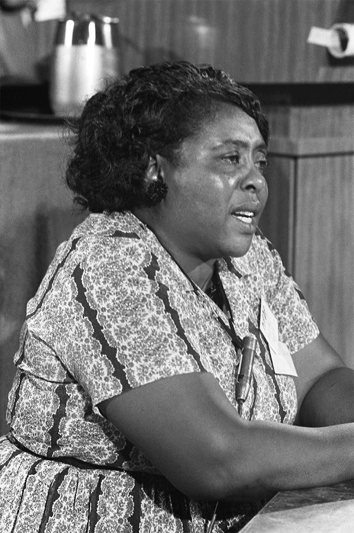 Fannie Lou Hamer - member of Mississippi's first integrated delegation