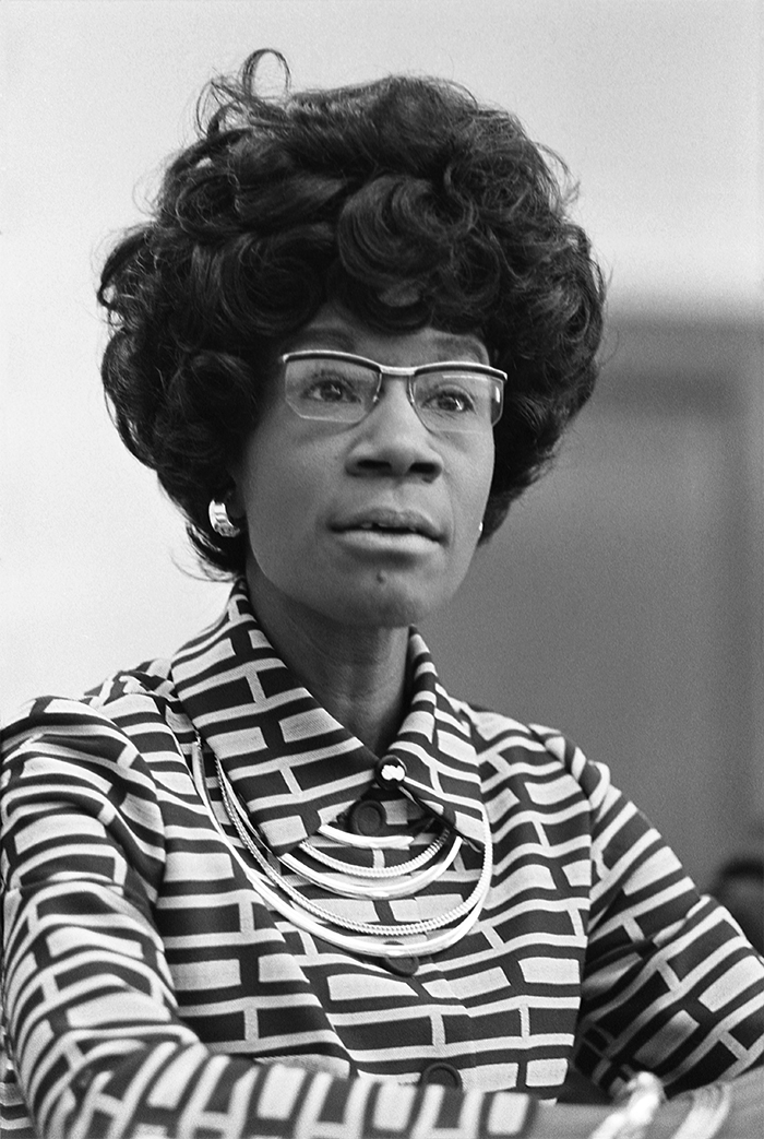 Shirley Chisholm - the first African American woman to be elected to the United States Congress