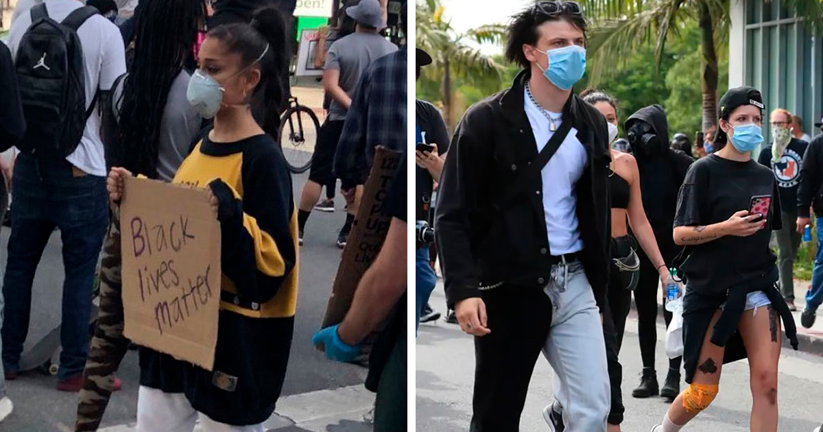 29 Celebrities Who Took Part In The George Floyd Protests - bored panda