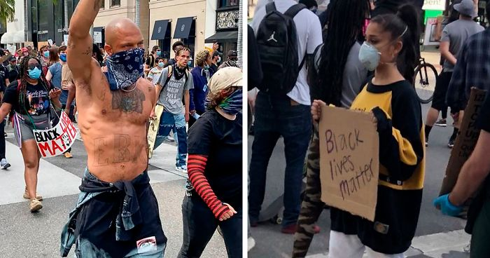 George Floyd Tattoo: 29 Famous People Who Marched At 'Black Lives Matter