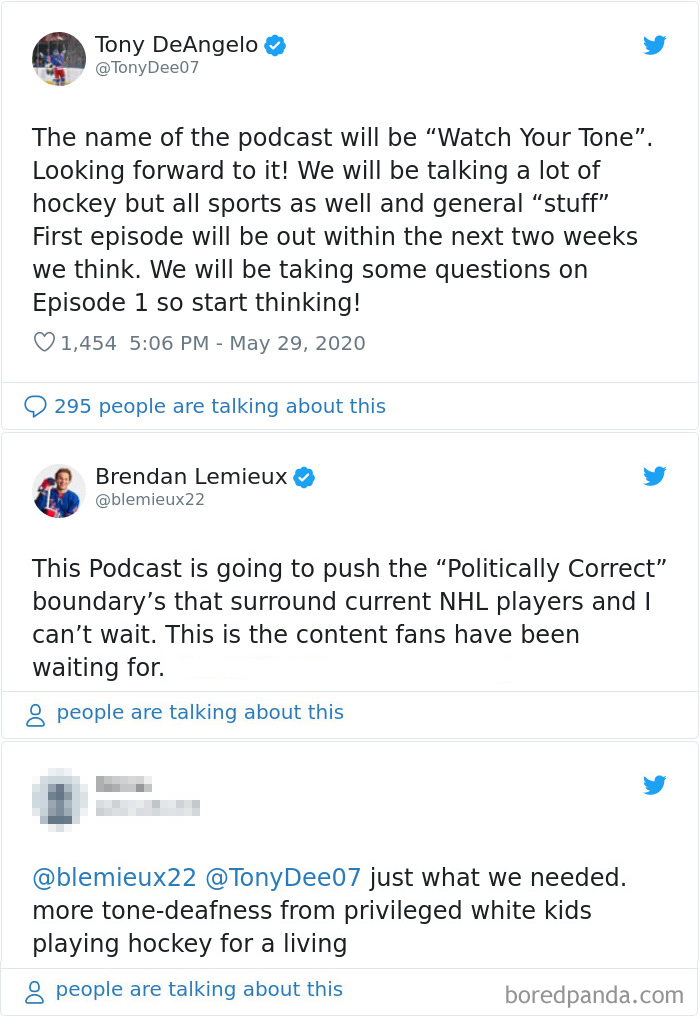 Hockey Player Tony Deangelo Tweeted About This Podcast, Watch Your Tone And Received Backlash