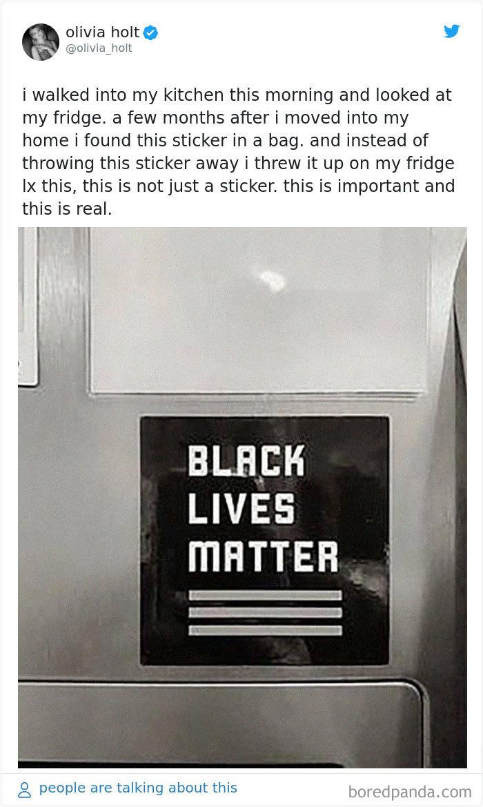 Olivia Holt Tweeted Her Weird Story About A Black Lives Matter Fridge Sticker