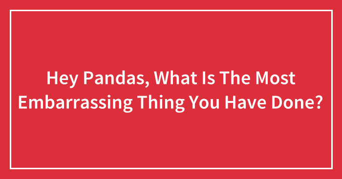 Hey Pandas, What Is The Most Embarrassing Thing You Have Done? (Ended)