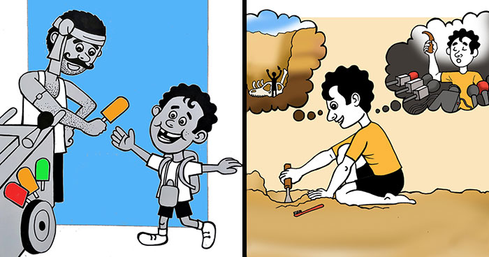 I Grew Up In India So I Decided To Illustrate What Childhood Was Like There (28 Pics)