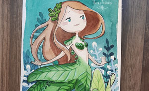 I Painted 31 Cute Mermaids During The Month Of May And Here Is The Result