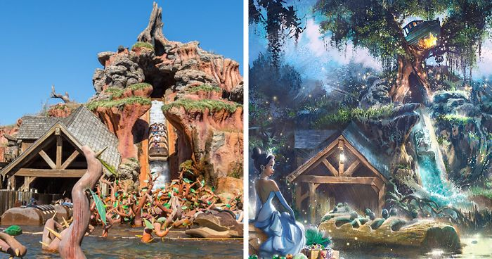 princess and the frog ride splash mountain