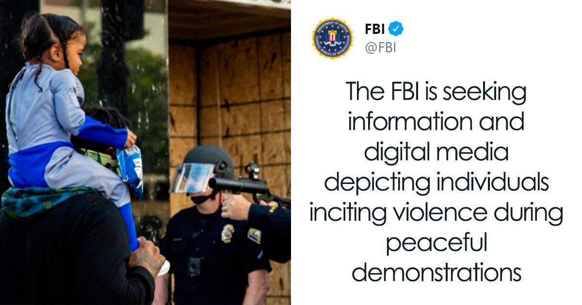 FBI Asks For Evidence of Individuals Inciting Violence During Protests, People Respond With Footage Of Police Violence - bored panda