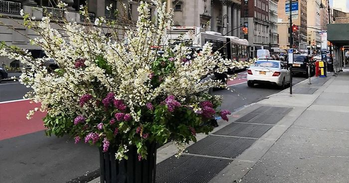Artist Turns New York Streets Into Bursting Display Of Flowers For Healthcare Workers (11 New Pics)