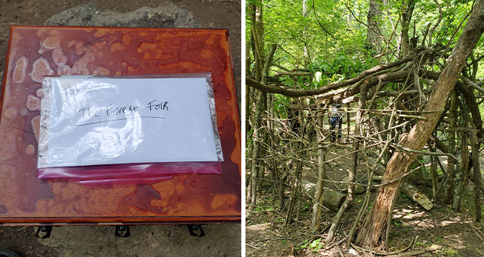 Nature Lovers Find Abandoned Fort In Forest That They Start Building Up, One Day Find A Mystery Box Inside And Decide To Open It