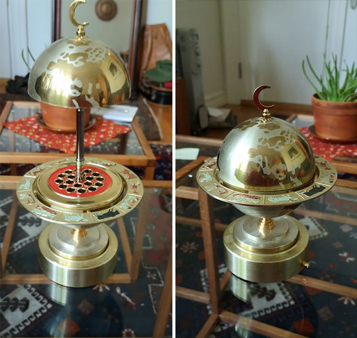 Found This Amazing 50s/60s Cigarette Holder/Music Box/Globe With Zodiac Signs On It At A Flea Market. An Older Lady Sold It For 20 Bucks, She Said It Was Her Mother's