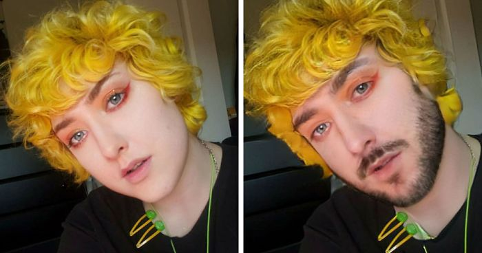 Person Tests What Happens When You Try A Gender Swap Filter Back And Forth 39 Times On Your Own Face