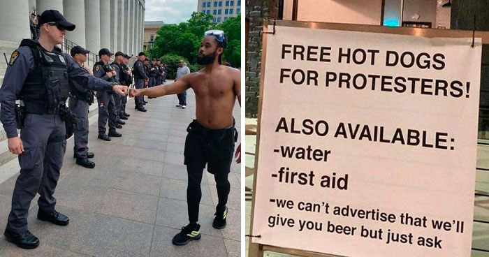 35 Pics Showing The Other Side Of The George Floyd Protests That The Mainstream Media Is Reluctant To Share