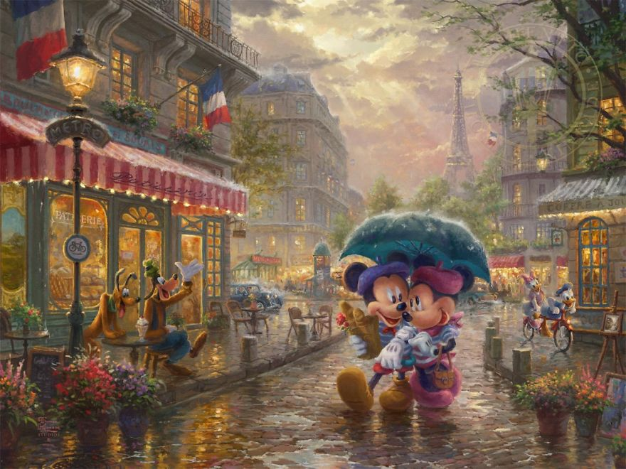 Mickey And Minnie In Paris