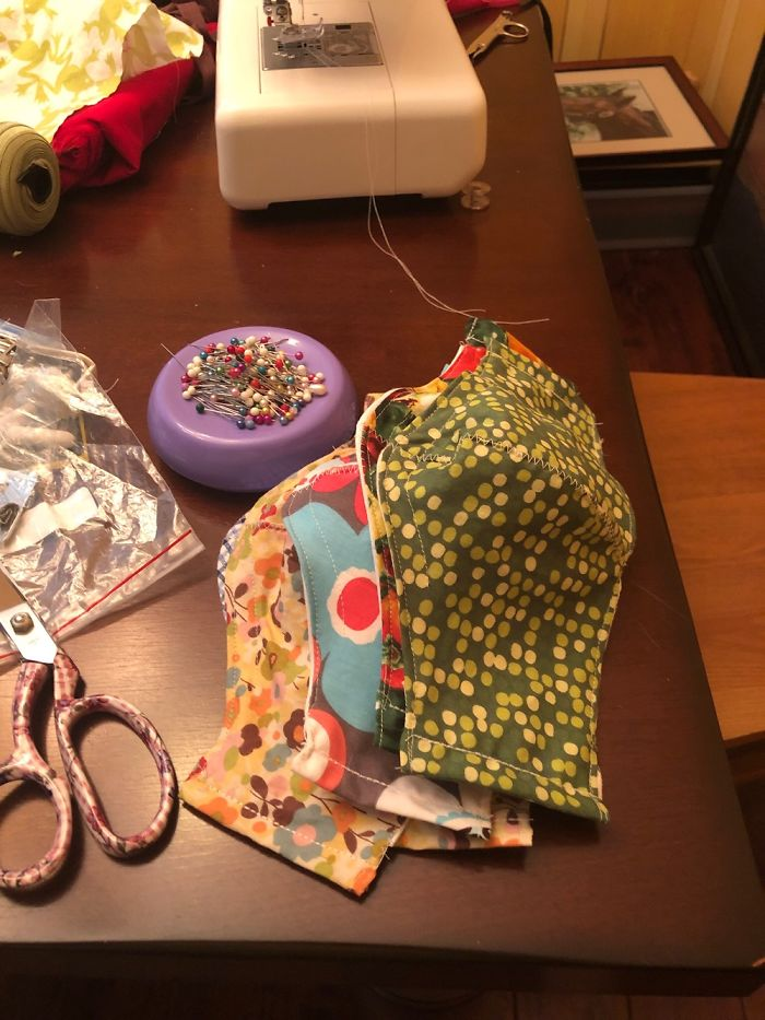 I Sewed 6 Dozen Masks For The ER Nurses At Our Local Hospital, Then More For Family & Friends