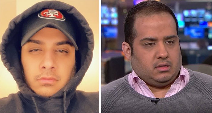 Profile Pic On Twitter vs. Still From Interview