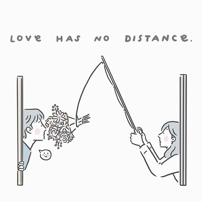 Illustrator Shows Small Fragments Of Love In Her Long-Distance Relationship (94 Pics)