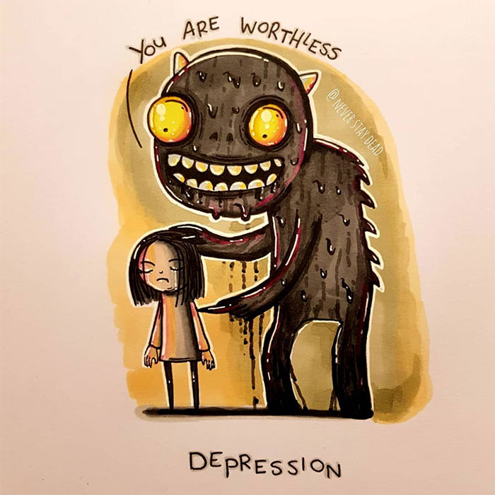 Mental-Disorder-Monsters-Art-Neverstaydead