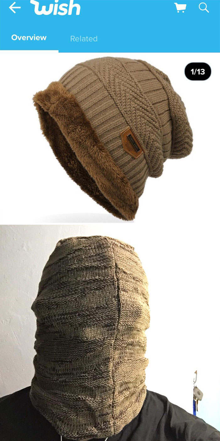 This Winter Hat I Ordered On Wish vs. The One I Received