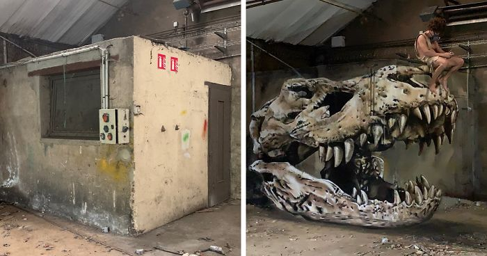 French Artist's Realistic Graffiti Art That Seems To Jump Off The Wall (30 Pics)