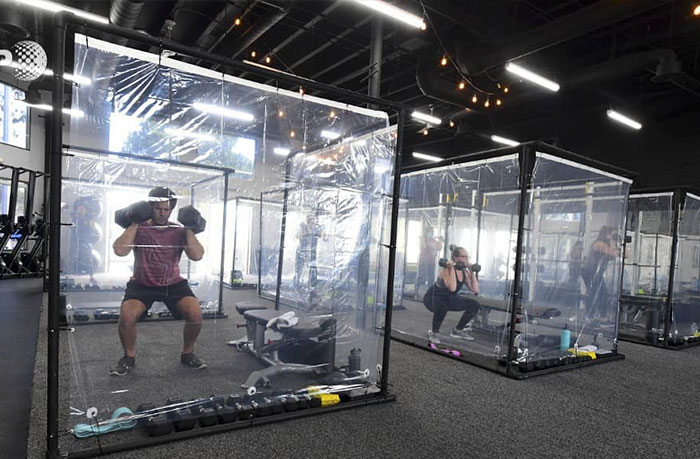 This California Gym Built Ten Feet Individual Pods For Working Out And People Have Mixed Feelings About It