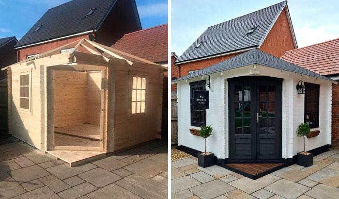 Esta pareja construyó un mini pub en el jardín, y asombró a todos con su interior hecho a mano
