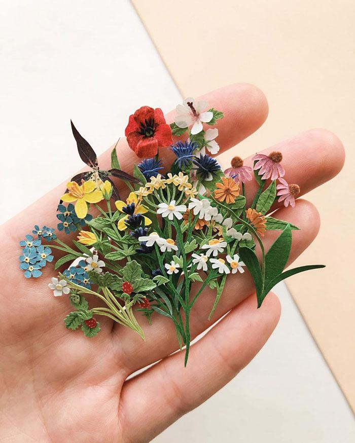 Tiny-Mini-Paper-Flower-Bouquets-Tania-Lissova