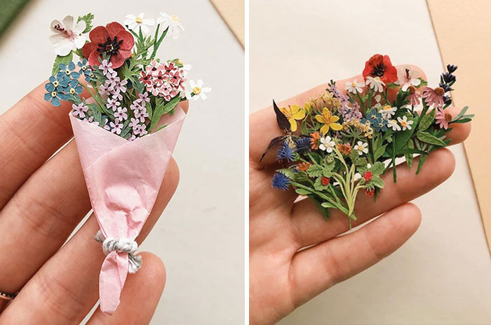 Paper Artist Tania Lissova Is Winning Hearts With Her Tiny Hand-cut Paper Plants (30 Pics)