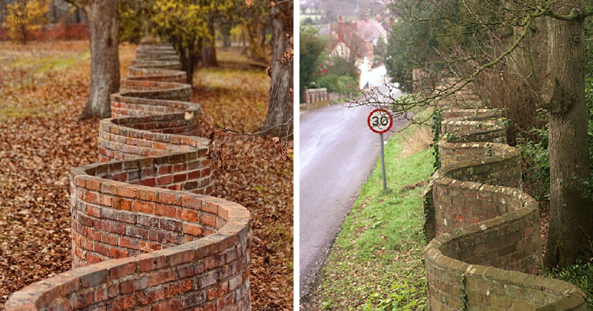 Mostly Popular In England, These Kinds Of Wavy Walls Actually Use Fewer Bricks Than A Straight Wall