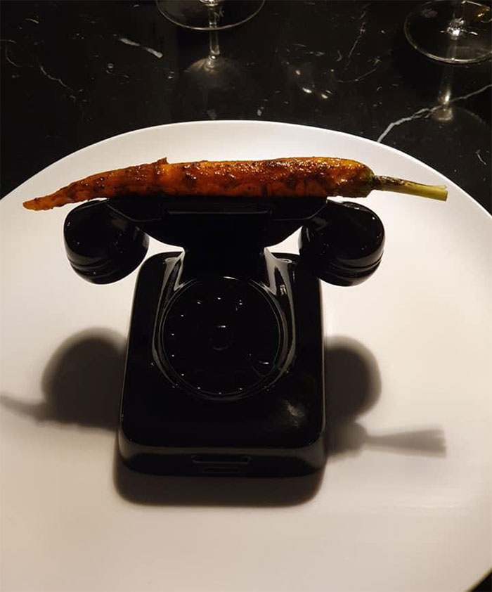 Carrot Served On A Telephone